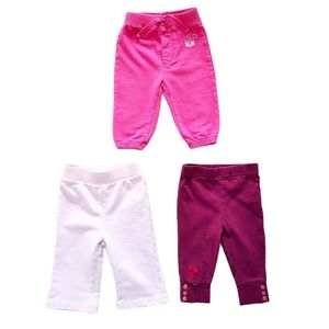 Lot of Baby Girl Leggings & Pants Size 3-6 months